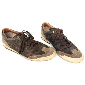 Frye Snyder Runner Brown Leather Sneakers Size 8.5